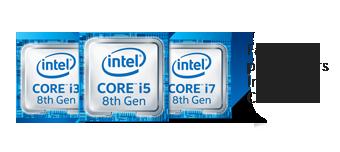 Logo Intel Core i3 i5 i7 8e génération